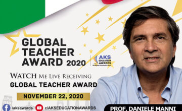 """La Ministra dell'Istruzione Lucia Azzolina ha annunciato in tutta Italia la notizia secondo cui per la prima volta un docente italiano ha vinto il prestigioso e internazionale """"Global Teacher Award""""..."""