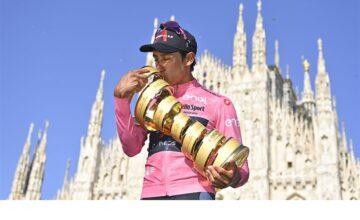 A Filippo Ganna la crono finale, quinta vittoria consecutiva al Giro d