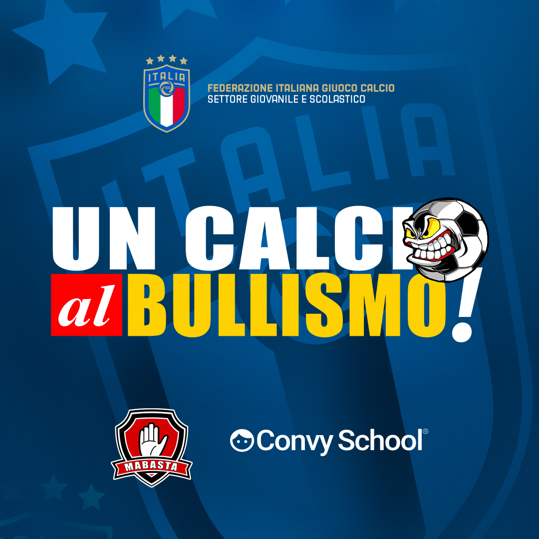 """A partire dall'anno accademico 2021-2022, nelle scuole e nelle società sportive prenderà il via il progetto """"Un calcio al bullismo""""."""